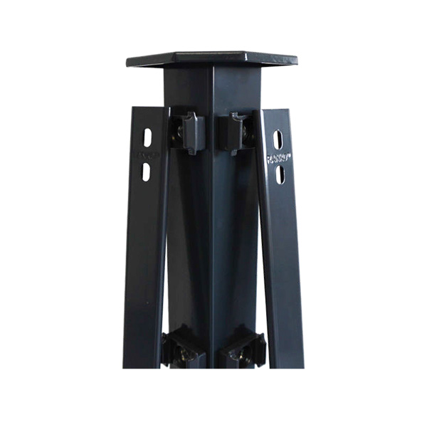eck profilrohrpfahl 60 x 60 mm f r zaun 160cm h he pro serie anthrazit zaun. Black Bedroom Furniture Sets. Home Design Ideas