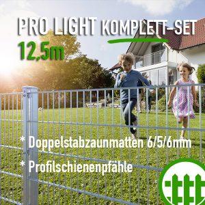 Doppelstabmattenzaun-Set PRO LIGHT verzinkt 203cm hoch 12