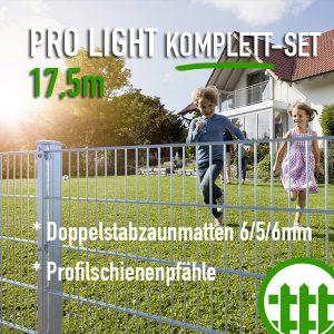 Doppelstabmattenzaun-Set PRO LIGHT verzinkt 203cm hoch 17